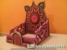 the 25 best ganpati decoration ideas thermocol ideas