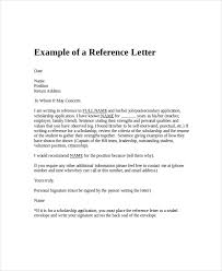 Reference Letter Job Employment Reference Letter Template Business