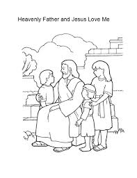 Jesus Coloring Page Heavenly Father And Love Me Coloring Page Love