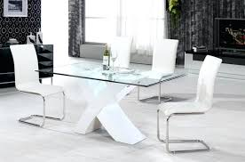 white gloss dining table and 4 chairs table amusing glass dining with white chairs high gloss