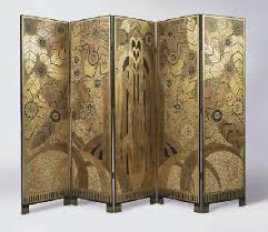 new art deco furniture. u0027lu0027oasisu0027 an art deco style painted and gilt five panel screen after new furniture i