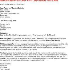 Restaurant general manager job resume resume sample for waiter cover letter  for bar job cover letter