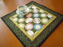 Patchwork Mountain - Handmade Quilts, Table Runners, Table Toppers ... & Quilted Table Topper Handmade Tabletop Plates Home Decor Adamdwight.com