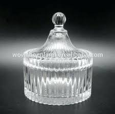 small crystal glass candy pot mini jar with lid waterford egg dish