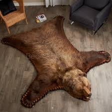 7 Foot 6 inch Grizzly Bear Rug #LEH6506001