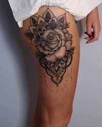 Roses Tattoo On Leg