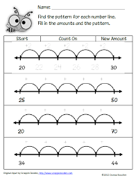 Patterns On Number Line Worksheets Worksheets for all | Download ...