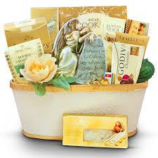 angel from above sympathy gift basket