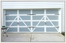 garage door makeover detached garage farmhouse paint curb appeal from my