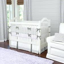 gray and lavender crib bedding white
