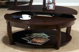 round wooden coffee table wood with storage circular dark