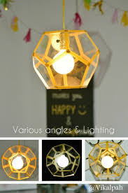 a gorgeous diy lamp for a fraction of cost and easy to do steps