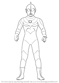 learn how to draw an ultraman ultraman step by step drawing tutorials