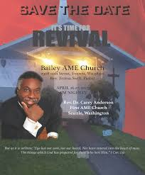 pnwc amec pacific northwest conference of ame church bailey revival flyer