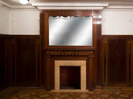 exceptional antique regency style complete paneled room in mahogany marquetry with fireplace france 19th century