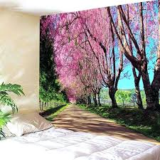 landscape wall tapestry landscape wall hanging flower tapestry inch inch landscape grand canvas wall tapestry