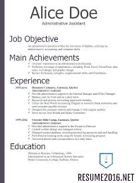 Chronological Resume Example Resume Template Ideas