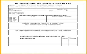5 year career plan example career development plan template professional development plans