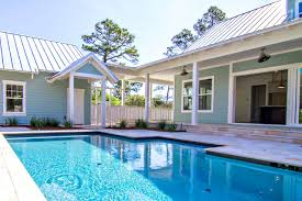 ... Cool Pool Houses Design : Cool Pool House Design With Blue Water  Combine With Rustic Brown ...