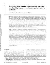 pdf is high intensity interval a time efficient exercise strategy to improve health and fitness