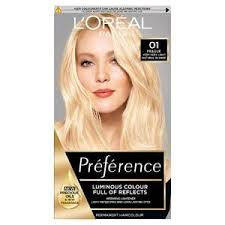 L Oreal Excellence Age Perfect Hair Color Chart Preference Blondissimes 01 Lightest Natural Blonde Hair Dye