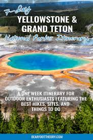Another Word For Itinerary Is The Ultimate 7 Day Teton And Yellowstone Road Trip Itinerary