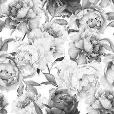 black and white vintage floral wallpaper. Modren White Found It At Wayfairca  Clara Removable 5u0027 X 20 With Black And White Vintage Floral Wallpaper M