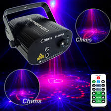 Us 58 78 10 Off Chims Party Laser Light Rb 40 Gobo Led Stage Lighting Projector For Light Family Disco Dance Music Christmas Xmas Festival Party In
