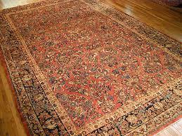 antique sarouk carpet 2451
