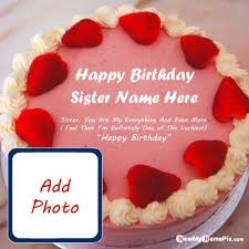 fabulous birthday cake wishes sister