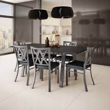 amisco washington metal chair and drift table dining set 4