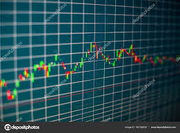 Stock Chart Analysis Tools Financial Graph Computer Monitor Screen Background Stock