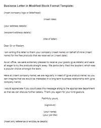 Business Letter Modified Block Format Template Just Letter Templates