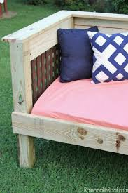 decoration gallery diy outdoor daybed marvelous