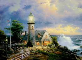 a light in the storm by thomas kinkade