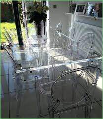 acrylic dining room chairs. acrylic dining table and chairs clear perspex uk room
