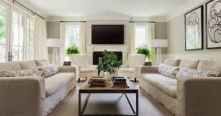 Two Sofa Living Room Design Property