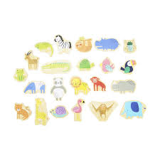 wooden magnetic animals pack of 20