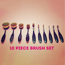 oval makeup brushes sephora. 10 piece oval brush set makeup brushes sephora .