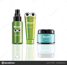 Spray Bottle Label Design Baby Cream And Spray Vector Realistic Cosmetics Product