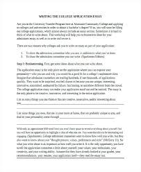 How To Write A College Admission Essay College Personal Essays Examples Of College Essays College Admission