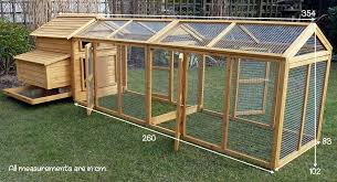 affordable external measurement of the devon and double run with chicken  coop extension run