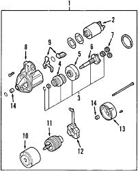 parts com® mitsubishi gear starter redu partnumber md632033 2009 mitsubishi outlander es l4 2 4 liter gas starter