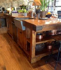 rustic kitchen island innovative sink