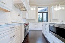 Bright White Luxury Galley Kitchen