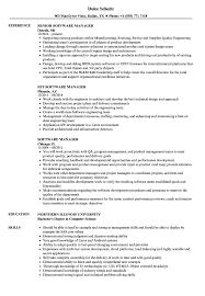 Software Manager Resume Software Manager Resume Samples Velvet Jobs 1