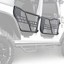 hooke road rock crawler front rear tubular door guards for 2007 2018 jeep wrangler