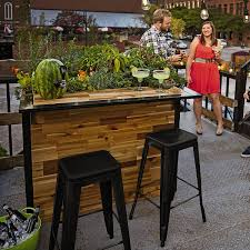 Outdoor Bar Plant A Bar Wooden Outdoor Bar And Planter The Green Head