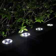 in ground lighting. MAGGIFT Solar Ground Lights,Garden Pathway Outdoor In-Ground Lights With 4 LED (4 Pack) (White) In Lighting
