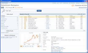 Datastream Navigator New Interface Business Research Plus